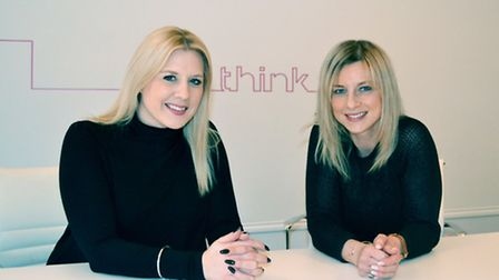 Martine Watker and think PR managing director Rachel Creegan. Picture: Submitted