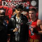 Former World Featherweight champion - Colin 'Sweet C' McMillan with Kaizer Syed (centre) and Billy Adams.