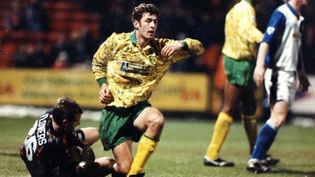 Chris Sutton, pictured in action for Norwich City during a 0-0 draw with Blackburn at Carrow Road in