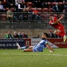 Ruel Sotiriou of Leyton Orient scores the first goal for his team during Leyton Orient vs Forest Gre