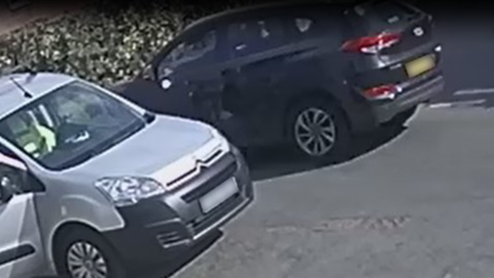 A CCTV still of a Black car whose driver may have information relating to the crash in Finningham near Stowmarket, Suffolk