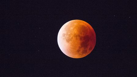 Blood moon, likely to be seen over suffolk tonight