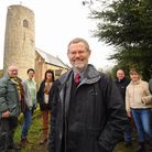 John Ash, front, and his fellow bellringers at St Peter's Church at Brooke which has received a Heri