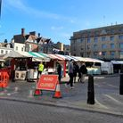Cambridge city market where a teenager says she was raped at night.