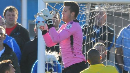 Lowestoft Town goalkeeper Jake Jessup is on loan at Norwich United. Picture by Greg Kwasnik/Focus Im