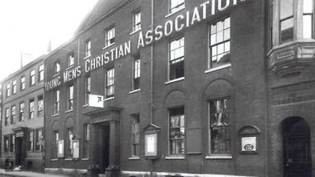 The YMCA at 48 St Giles Street in Norwich, adorned with huge gold lettering, c1930. Pic: Submitted.