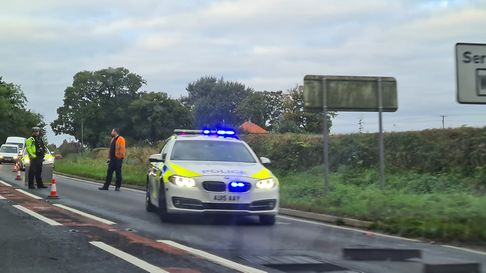 There are currently delays on the A47 at Swaffham due to a collapsed manhole.