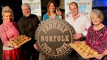 Sarah de Chair (right) with (from left) food patrons Vanessa Scott, Richard Hughes and Chris Coubrou