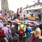 The Taste of Sudbury Food & Drink Festival in Market Hill in a previous year. It will be back next year at Melford Hall