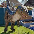A part-time cosplayer will be taking a dinosaur around March and Wimblington this weekend for some Halloween fun.