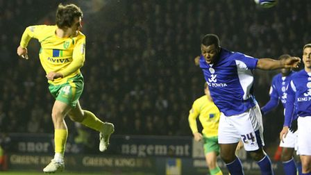 A rare Wes Hoolahan header finds the back of the Leicester City net in 2011.