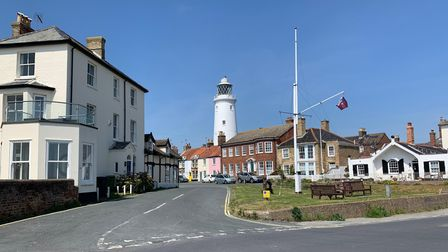 Southwold, with its distinctive lighthouse is one of the most beautiful towns on the Suffolk coast