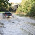 The A14 roundabout has remained partially closed as Anglian Water engineers fix the burst main pipe
