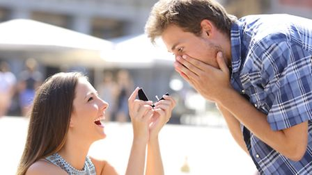 Todays the day when a woman traditionally has the chance to make a marriage proposal to a man. Pictu