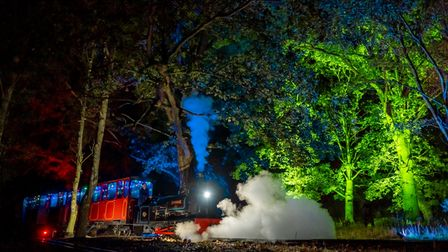 At Bressingham at Night there will be steam train rides in the dark with illuminations.