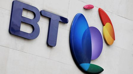Embargoed to 0001 Thursday February 18File photo dated 05/10/13 of the BT logo as the telecoms giant