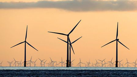 """File photo dated 02/07/15 of a sea of wind turbines. Sudden and unexpected changes in policy have """"s"""