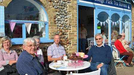 Cafe users in Cromer's North Lodge Park. Picture: DAVE 'HUBBA' ROBERTS