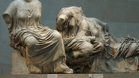 A section of the Parthenon Marbles, also known as the Elgin Marbles in the British Museum. Photo: Ma