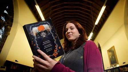 Author Eleanor Wasserberg with her first book Foxlowe.Picture: ANTONY KELLY.