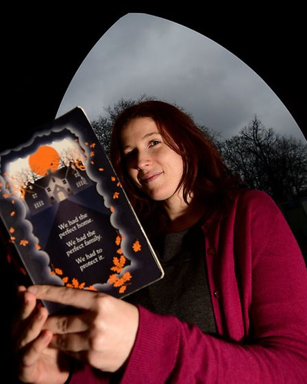 Author Eleanor Wasserberg with her first book Foxlowe. Picture: ANTONY KELLY.