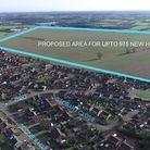 The proposed site for 975 homes in Worlingham.