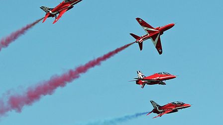 Red Arrows at Cromer Carnival