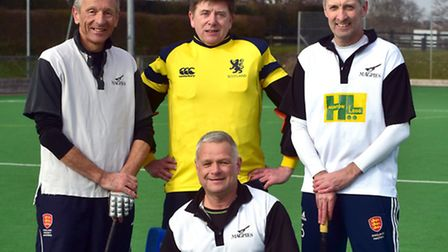 Some of the Harleston Magpies over-50 players will be heading out to Austrailia, from left, David Bl