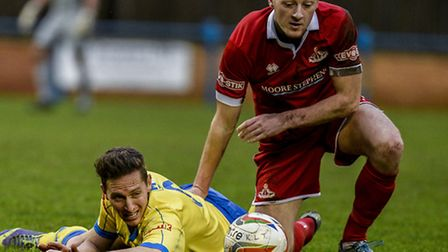 David Bridges and Lynn were left down and out on Saturday. Picture: MATTHEW USHER