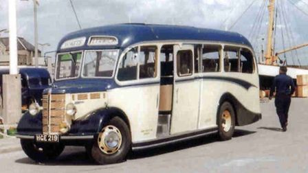 The coach from when it was operating in the Shetland Islands