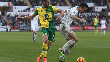 Norwich City defender Ivo Pinto is adapting to the Premier League for Alex Neil. Picture by Paul Che