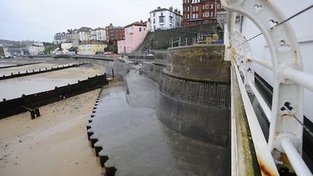 Repair work being undertaken of Cromer Seafront after the storm surge in 2013.Picture: MARK BULLIMOR