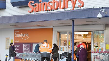 File photo dated 12/01/16 of a Sainsbury's supermarket in Barkinside Essex, as the supermarket stepp