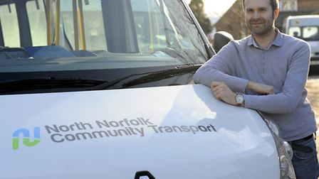 North Norfolk Community Transport Chief Executive Matt Townsend with some of the vehicles that are u