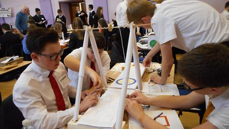 Students at Downham technology tournament: Pictures submitted.