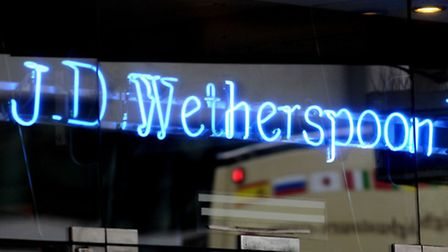 File photo dated 20/1/09 of a JD Wetherspoon pub in central London. Picture: Tim Ireland/PA Wire