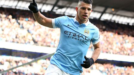Manchester City's Sergio Aguero has scored on every previous visit to Norwich City. Photo: Martin Ri
