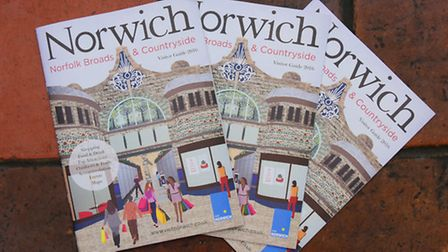 the launch of the the 2016 Visit Norwich tourism guide.PHOTO BY SIMON FINLAY