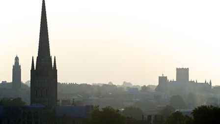 View of Norwich from Ketts Hill. Pictured is Norwich Cathedral. Picture: MARK BULLIMORE