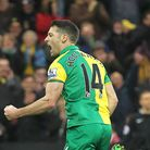 Wes Hoolahan celebrates his 45th goal for Norwich City. Picture: Paul Chesterton/Focus Images