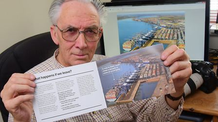 Norfolk photographer Mike Page who is furious that the government have used one of his photos withou