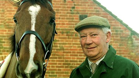 Mike Bloom, with point to point horse JoJo Boy.