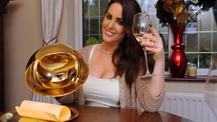 Polly Guy from Norwich celebrates becoming the Come Dine With Me Champion of Champions. Picture: DEN
