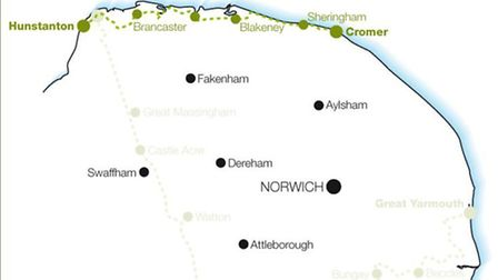 Cycling in Norfolk: Norfolk Coast Cylcleway Photo: Hikehelp.co.uk
