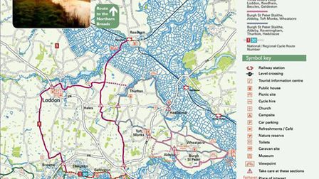 Cycling in Norfolk: Broads By Bike Southern Routes. Photo: thebroadsbybike.org.uk