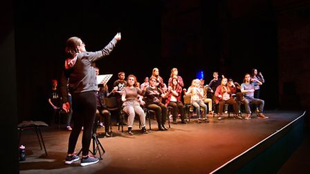 West Acre Young People's Theatre taking part in the Connections Festival. Pictured in rehearsal at N