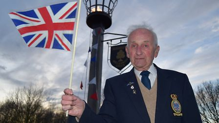 John Blowers switched on the beacon to mark the Queen's 90th birthday.