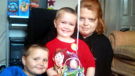 Jo Lynch with her young sons Kallum and Jack.An appeal has been launched called Jo's Last Wish to ra