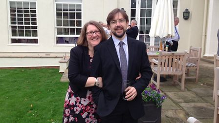 Claire Dye with her late husband, Paul.