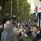 File photo dated 20/11/15 of shoppers on Oxford Street in London, as the number of shoppers on UK hi